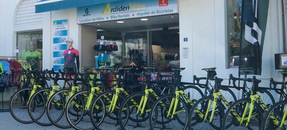 Ardiden Velos bike rental shop