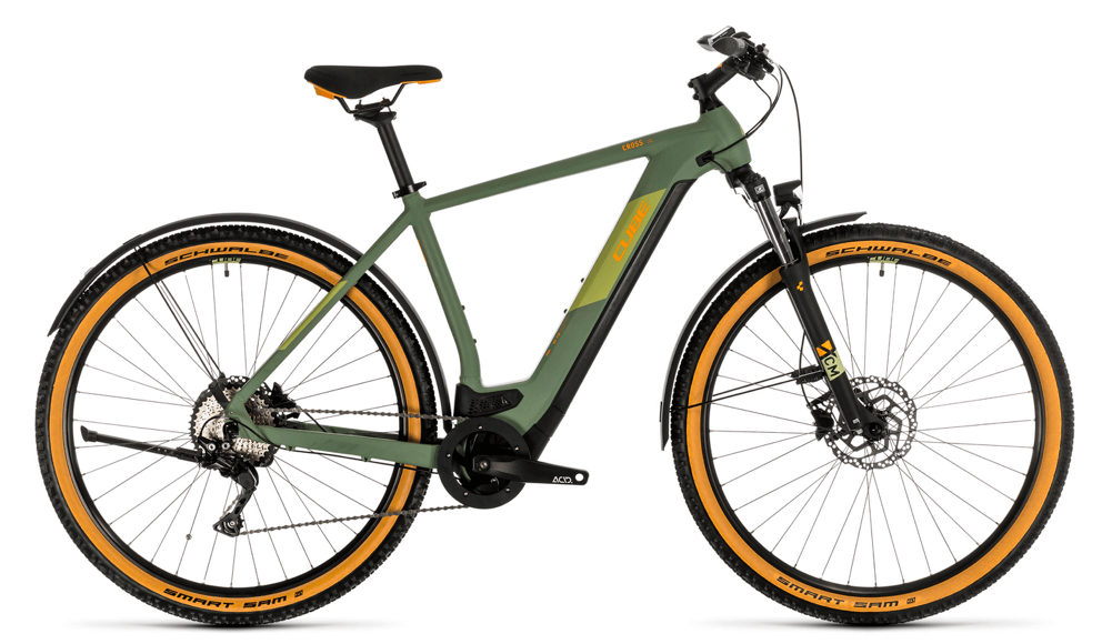 CUBE Cross Hybrid 625 Mens electric bike