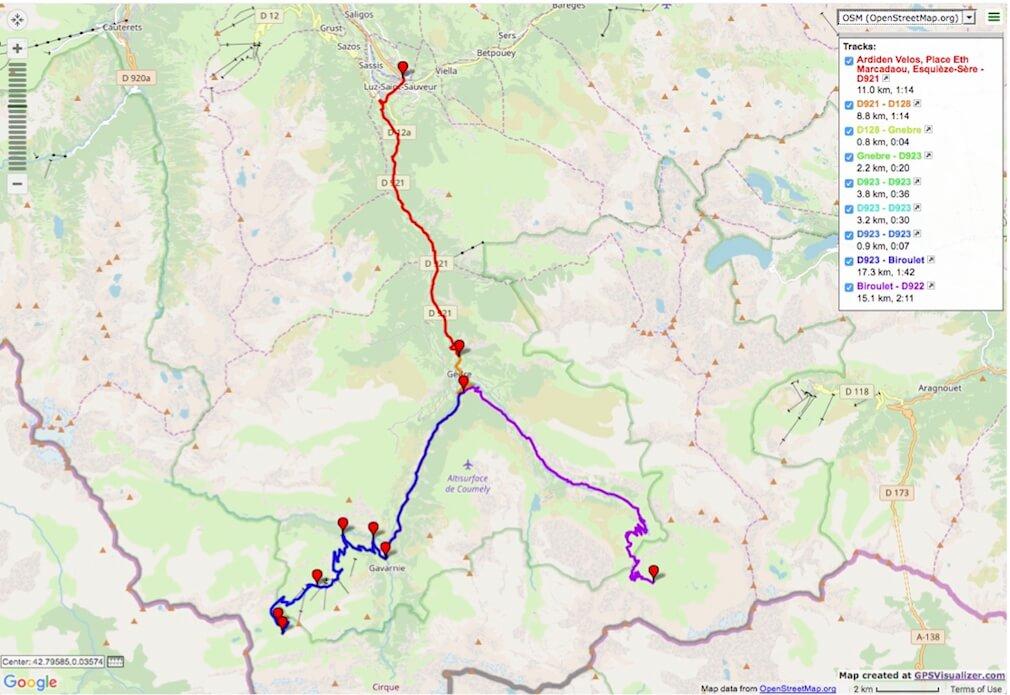 Col des Tentes and Cirque de Troumouse road bike route