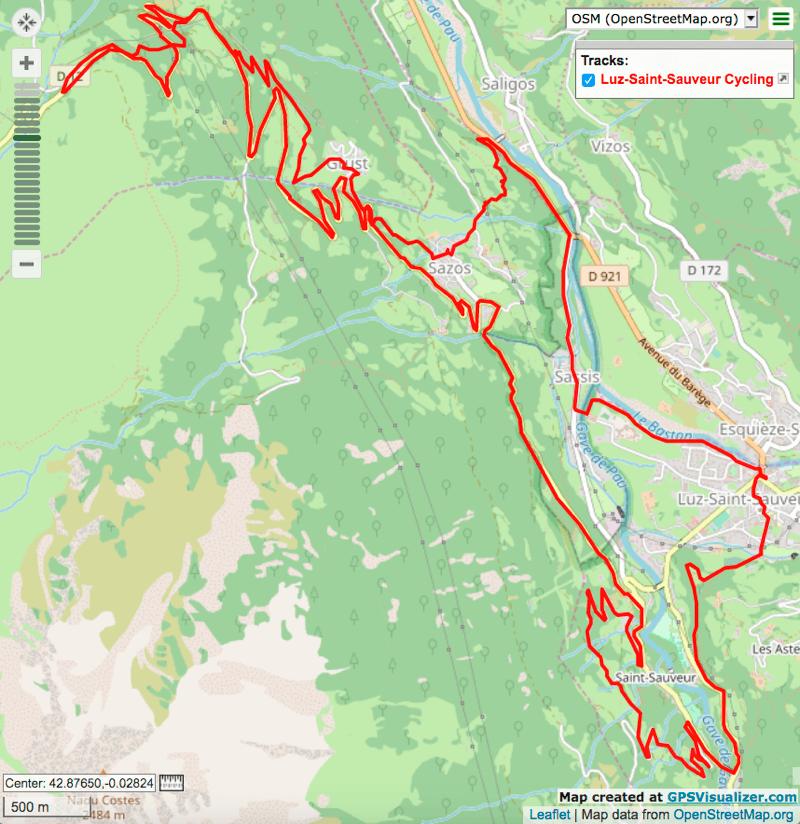 Luz Ardiden Scooter Loop electric bike route