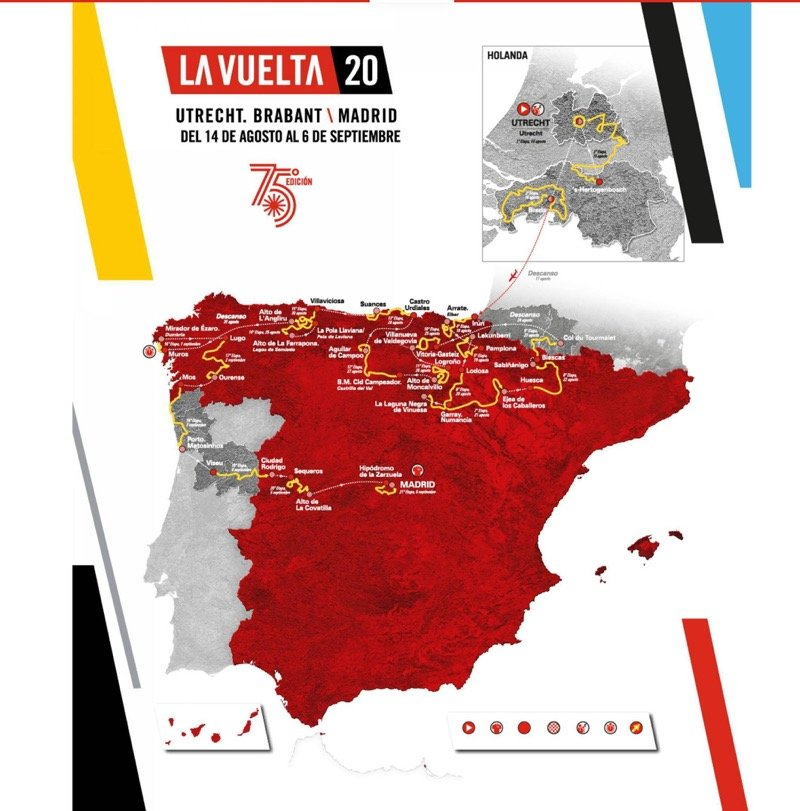 2020 Vuelta a España route map