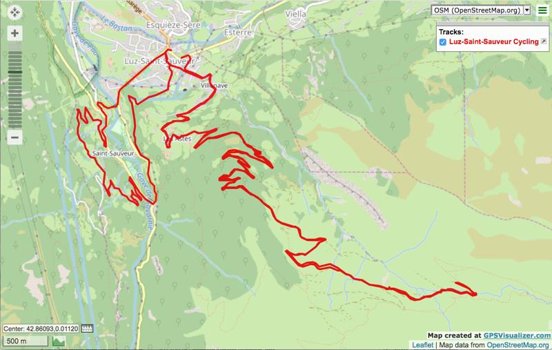 Luz Saint Sauveur to Plateau d'Estibe and Saint Sauveur electric bike route